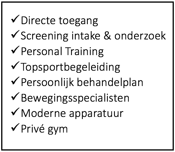 FYSIOTHERAPIE AT THE GYM
